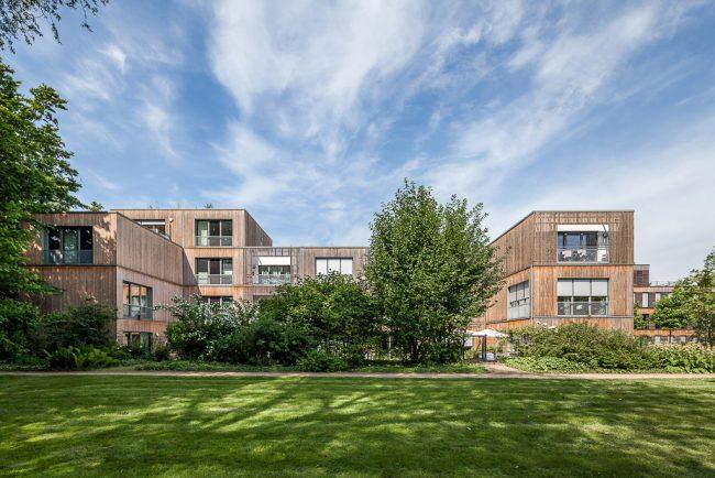 Architekturfotografie Hamburger Neue-Terrassen Wohnanlage